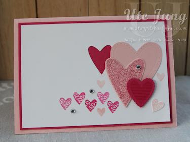 """""""Herzensache"""", ein tolles Stempelset für Hochzeitskarten, Valentinstag und andere herzige Anlässe"""