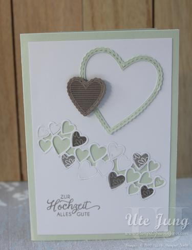 """Hochzeitskarte mit dem Stempelset """"Herzenssache"""""""