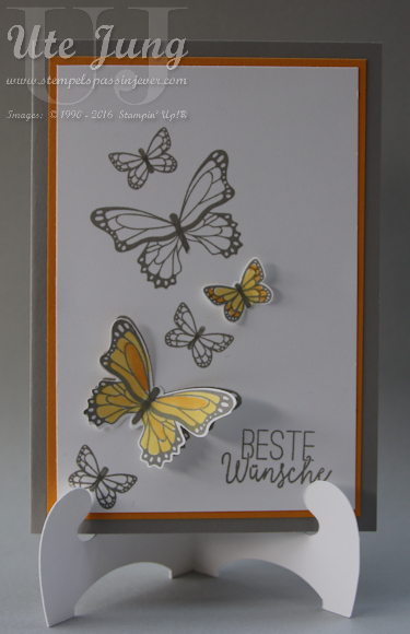 "Stempelset ""Schmetterlingsglück"" und passende Stanze ""Schmetterlingsduett"""