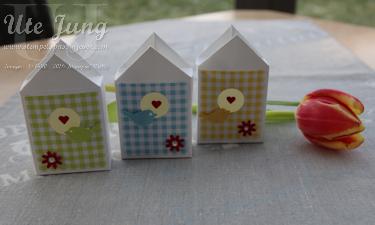 Vogelhaus-Verpackung zum Frühling