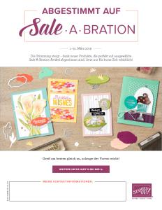 Abgestimmt auf Sale-A-Bration. Erhältlich bis: 31.03.2019