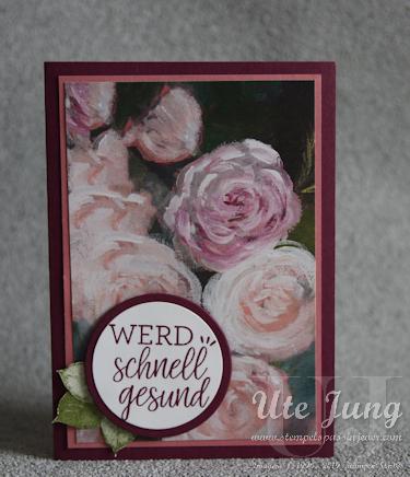"""Genesungskarte mit dem Designerpapier """"Florale Träume"""""""