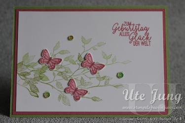 """Geburtstagskarte mit """"Very Versailles"""" und """"Schmetterlingsglück"""""""
