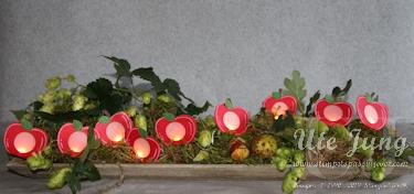 """Lichterkette mit der """"Elementstanze Apfel"""""""