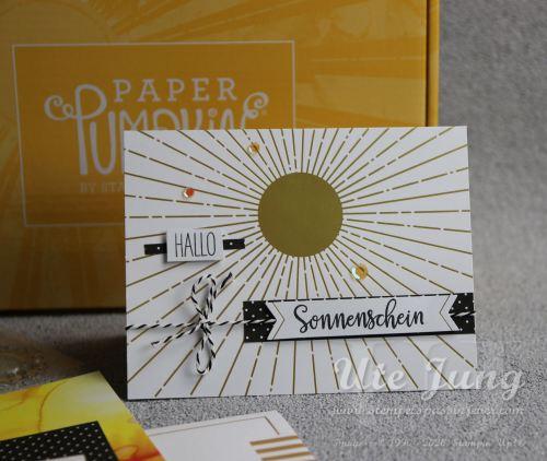 """Stampin' Up! Paper Pumpkin Set """"Sonne pur"""". Erhältlich, solange der Vorrat reicht."""