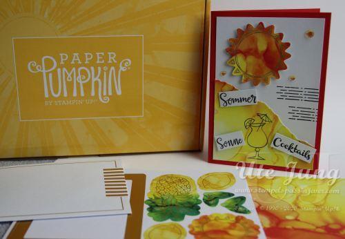 """Paper Pumpkin Set """"Sonne Pur"""". Erhältlich, solange der Vorrat reicht."""