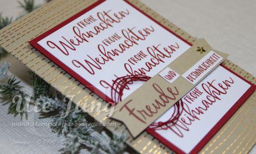 """Weihnachtskarte aus dem Paper Pumpkin """"Feiertage voller Freude"""""""